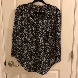 H&M Black and white leopard blouse